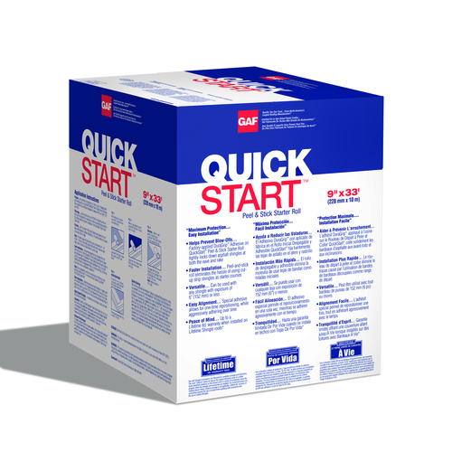 GAF QuickStart 33-lin ft Black Starter Roof Shingles