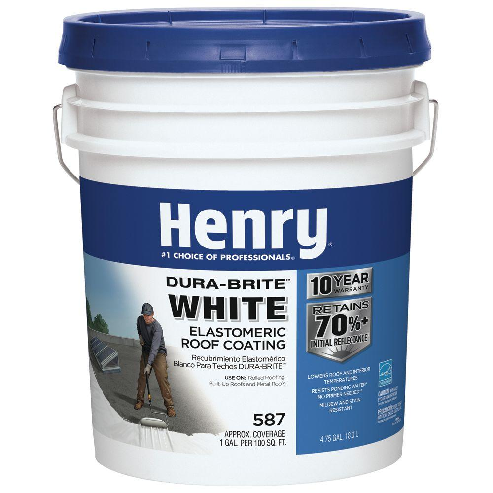 4.75 Gal. 587 Dura-Brite White Roof Coating (24-Piece)