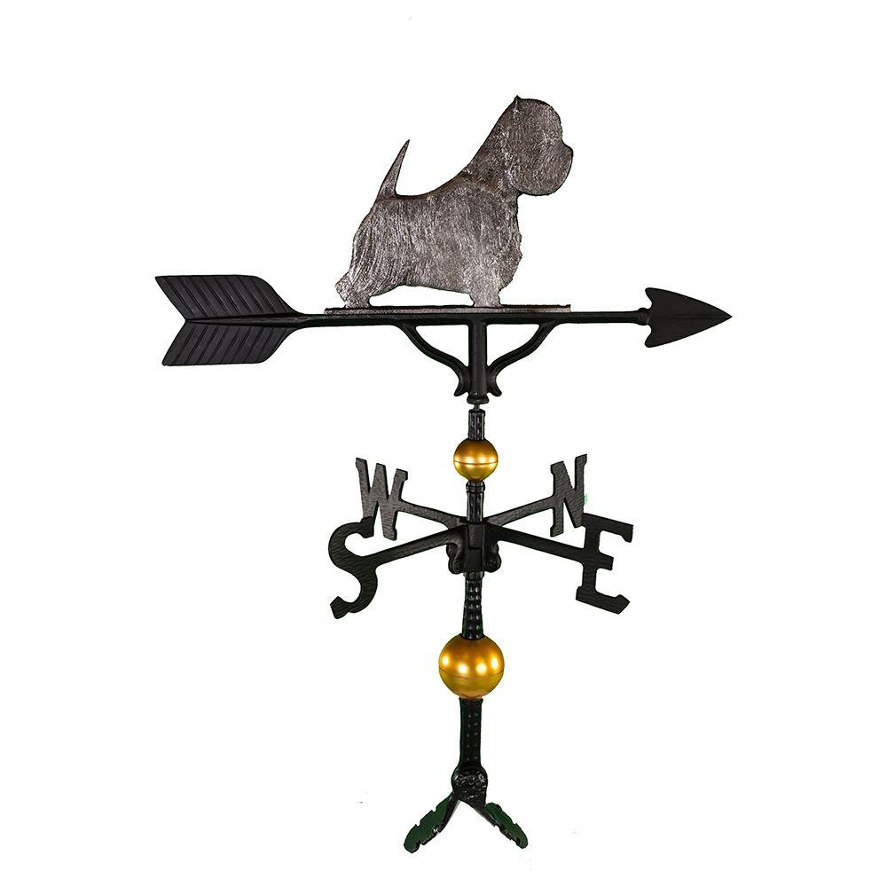 32 in. Deluxe Swedish Iron West Highland White Terrier Weathervane