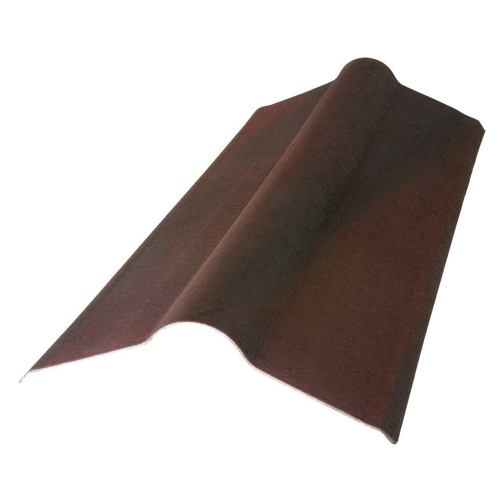 2-23/24 ft. x 19.5 in. Siena Brown Composite Asphalt Roof Panel Standard Ridge Cap