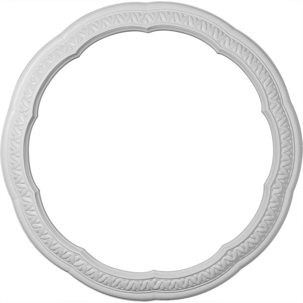 Ekena Millwork Decorative Ceiling Rings/Raymond / Ceiling Ring / 22 1/4'OD x 17 1/4'ID x 2 1/2'W x 1 1/2' / CR22RA