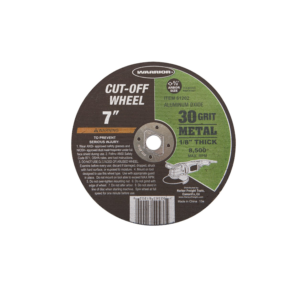 7 in. 30 Grit Metal Cut-off Wheel
