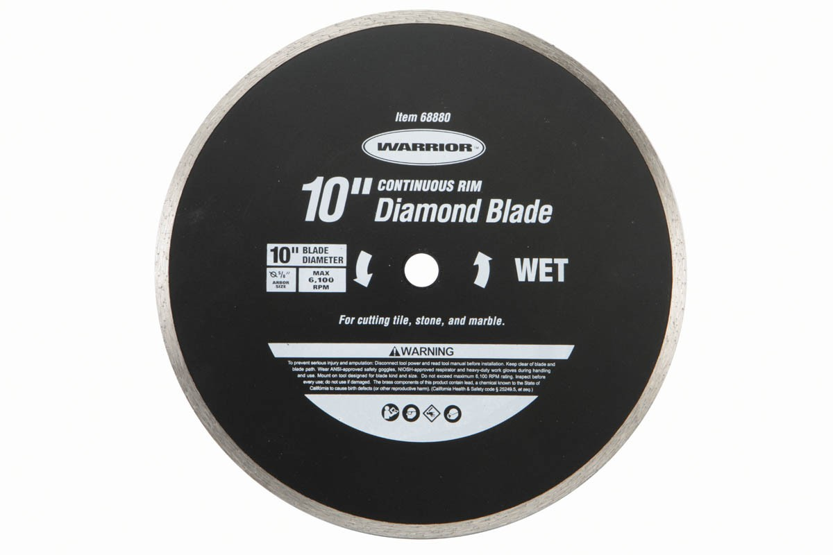 10 in. Continuous Rim Wet Cut Masonry Diamond Blade