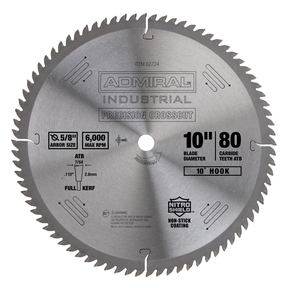 10 in. 80T Fine Cut Circular Saw Blade
