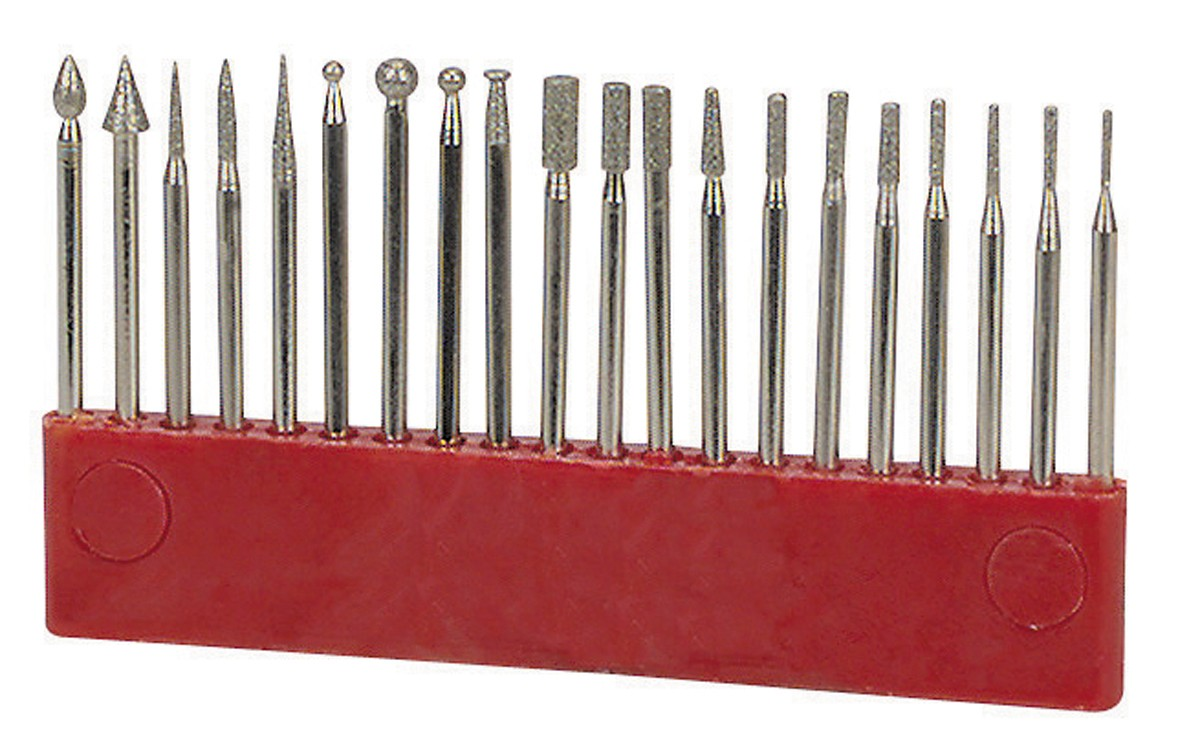 Diamond Point Rotary Bit Set 20 Pc.