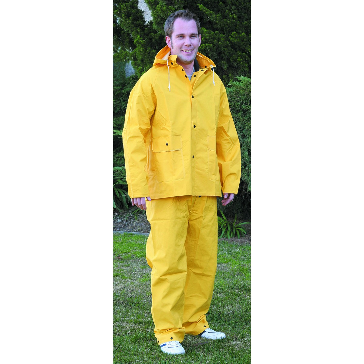 2 Piece Yellow Rain Suit, Large
