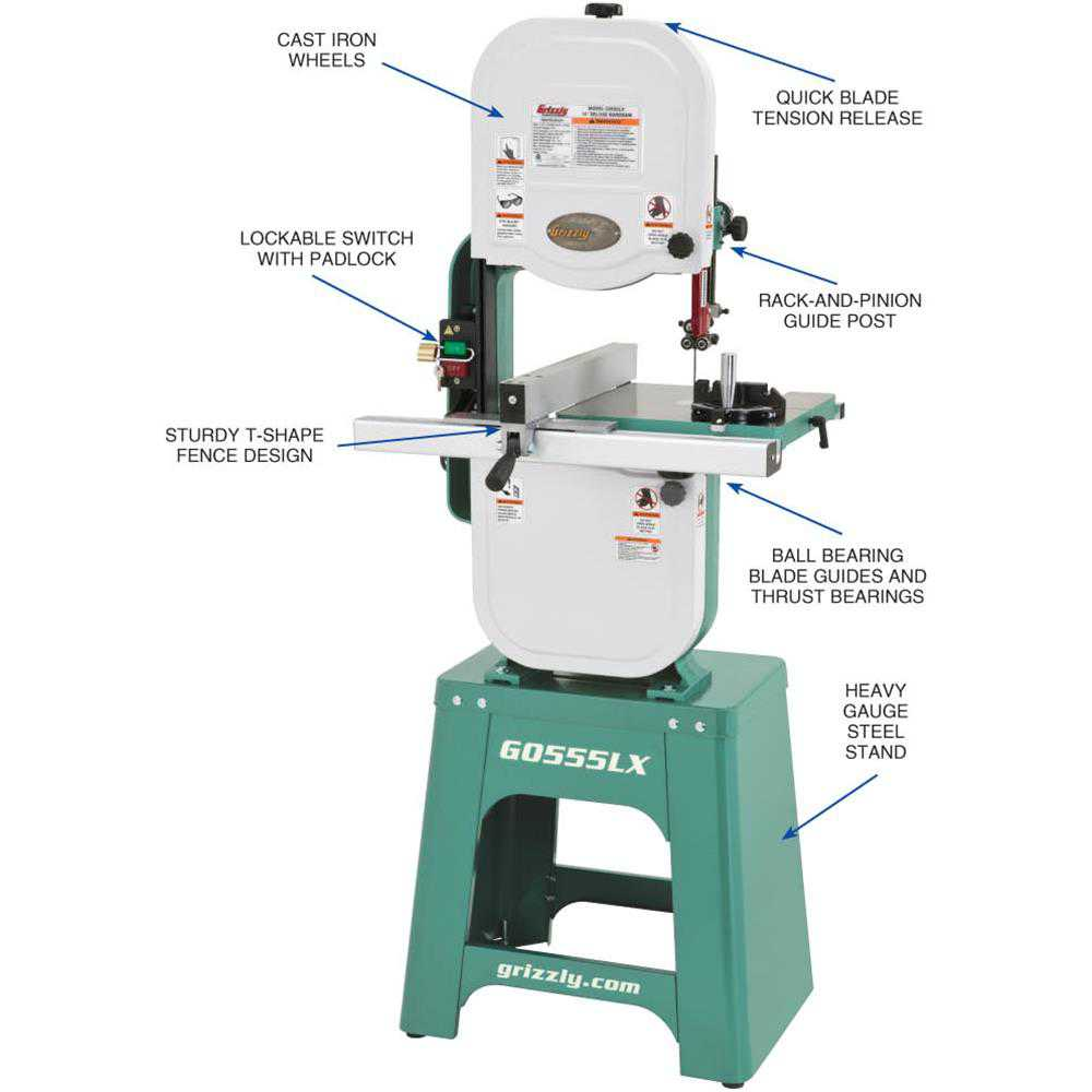 Grizzly G0555LX 14' Deluxe Bandsaw